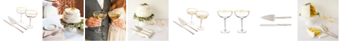 Cathy's Concepts Gold Love Coupe Flutes Cake Serving Set