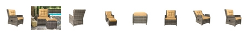 Lifestyle Solutions Relax A Lounger Camry Outdoor Recliner And Ottoman