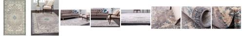 """Bridgeport Home Bellmere Bel2 Gray 3' 3"""" x 5' 3"""" Area Rug"""