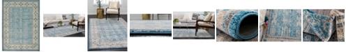 Bridgeport Home Bellmere Bel1 Light Blue 8' x 11' Area Rug