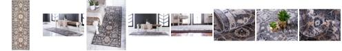 """Bridgeport Home Wisdom Wis1 Gray 2' 2"""" x 6' Runner Area Rug"""