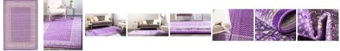Bridgeport Home Axbridge Axb1 Violet 6' x 9' Area Rug