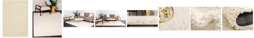 Bridgeport Home Exact Shag Exs1 Pure Ivory 4' x 6' Area Rug