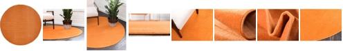 Bridgeport Home Axbridge Axb3 Orange 8' x 8' Round Area Rug