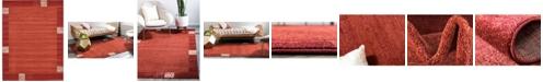 Bridgeport Home Lyon Lyo1 Rust Red 10' x 13' Area Rug