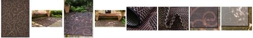 Bridgeport Home Pashio Pas7 Chocolate Brown 9' x 12' Area Rug