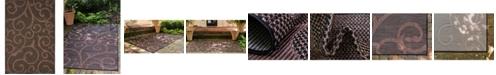 Bridgeport Home Pashio Pas7 Chocolate Brown 4' x 6' Area Rug