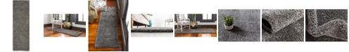 """Bridgeport Home Uno Uno1 Gray 2' 2"""" x 6' 7"""" Runner Area Rug"""