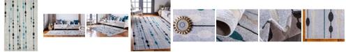Bridgeport Home Pashio Pas3 Gray 6' x 9' Area Rug