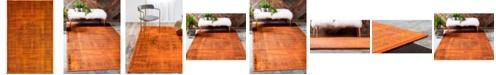 Bridgeport Home Linport Lin5 Terracotta 5' x 8' Area Rug