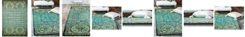 "Bridgeport Home Linport Lin6 Aquamarine 8' x 11' 6"" Area Rug"