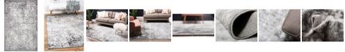 Bridgeport Home Basha Bas5 Dark Gray 5' x 8' Area Rug