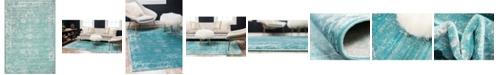 Bridgeport Home Basha Bas1 Turquoise 4' x 6' Area Rug