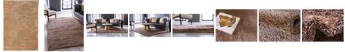 """Bridgeport Home Uno Uno1 Light Brown 5' x 7' 7"""" Area Rug"""