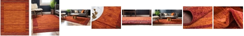 Bridgeport Home Jasia Jas11 Terracotta 8' x 10' Area Rug
