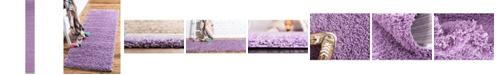 "Bridgeport Home Exact Shag Exs1 Lilac 2' 6"" x 19' 8"" Runner Area Rug"