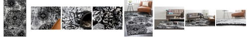"Bridgeport Home Basha Bas7 Black 3' 3"" x 5' 3"" Area Rug"