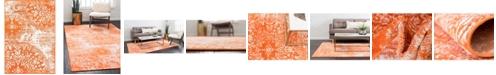 "Bridgeport Home Basha Bas7 Orange 2' 2"" x 3' Area Rug"