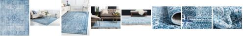 Bridgeport Home Zilla Zil3 Navy Blue 8' x 10' Area Rug