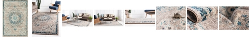 "Bridgeport Home Lorem Lor1 Gray 5' 3"" x 7' 7"" Area Rug"