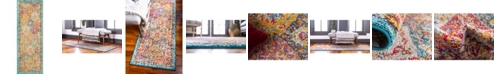 "Bridgeport Home Lorem Lor2 Multi 2' 2"" x 6' Runner Area Rug"