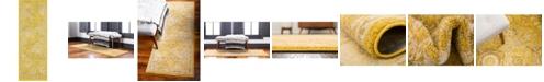 """Bridgeport Home Lorem Lor2 Yellow 2' 2"""" x 6' Runner Area Rug"""
