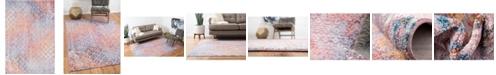 """Bridgeport Home Prizem Shag Prz2 Lilac 5' 3"""" x 7' 9"""" Area Rug"""