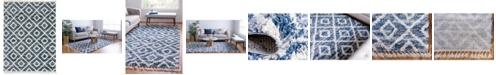 Bridgeport Home Lochcort Shag Loc2 Blue 9' x 12' Area Rug