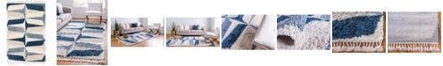 Bridgeport Home Lochcort Shag Loc6 Blue 4' x 6' Area Rug