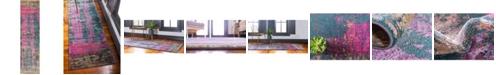 "Bridgeport Home Aroa Aro5 Multi 2' 7"" x 10' Runner Area Rug"