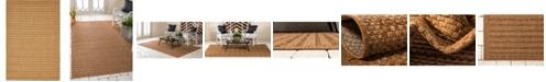 Bayshore Home Bridgeport Home Pashio Pas6 Light Brown 4' x 6' Area Rug