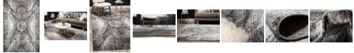 Bridgeport Home Basha Bas3 Dark Gray 6' x 9' Area Rug