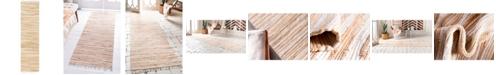 "Bridgeport Home Jari Striped Jar1 Tan 2' 7"" x 9' 10"" Runner Area Rug"