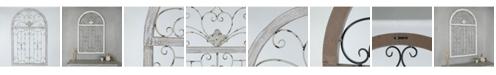 Luxen Home Metal Window Scroll Wall Decor