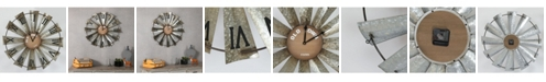 Luxen Home Wood and Metal Wind Mill Wall Clock
