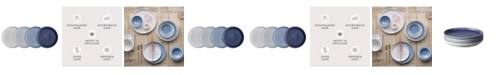 Denby Studio Blue Asoorted Small Plates Set of 4