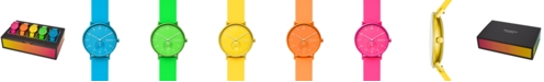 Skagen Unisex Aaren Kulor Neon Multicolor Silicone Strap Watch 41mm Box Set