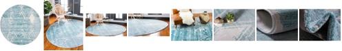 Jill Zarin Carnegie Hill Uptown Jzu006 Turquoise 8' x 8' Round Rug