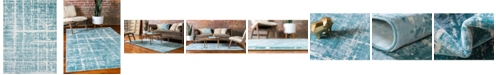 Jill Zarin Lexington Avenue Uptown Jzu003 Turquoise 9' x 12' Area Rug