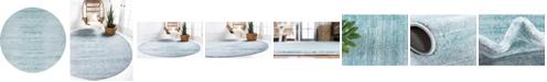 Jill Zarin Madison Avenue Uptown Jzu001 Turquoise 8' x 8' Round Rug