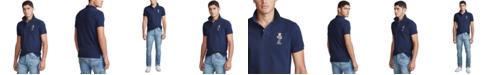 Polo Ralph Lauren Men's Custom Fit Polo Bear Mesh Polo Shirt