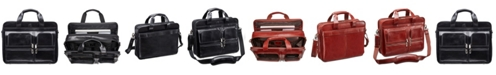Mancini Signature Collection Top Zippered Double Compartment Laptop and Tablet Briefcase