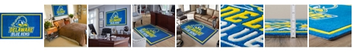 """Luxury Sports Rugs Delaware Colde Blue 5' x 7'6"""" Area Rug"""
