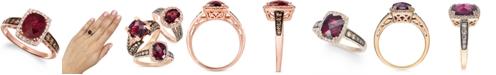 Le Vian Creme Brulee® Raspberry Rhodolite (2-1/3 ct. t.w.) & Diamond (3/8 ct. t.w.) Ring in 14k Rose Gold