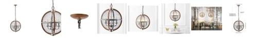 JONATHAN Y Gaines 4-Light Adjustable Rustic Industrial LED Pendant