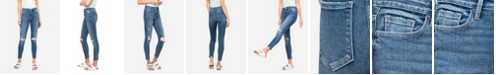 FLYING MONKEY Women's High Rise Distressed Skinny Ankle Jeans
