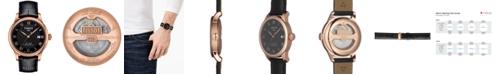 Tissot Men's Swiss Le Locle Black Leather Strap Watch 40mm