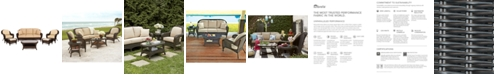 Furniture Monterey Outdoor Wicker 6-Pc. Seating Set with Sunbrella® Cushions (1 Sofa, 2 Club Chairs, 2 Ottomans and 1 Coffee Table), Created for Macy's