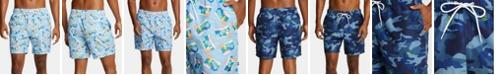 "Nautica Nautica Men's Blue Sail Quick-Dry Camouflage 6"" Swim Trunks"