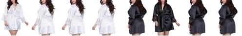 Dreamgirl Plus Size Satin Charmeuse Robe